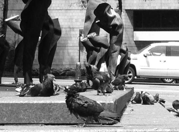 Morning rituals on Hammarskjöld Plaza